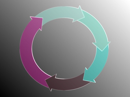 Circle of five arrows, business flow graphic Stock Photo