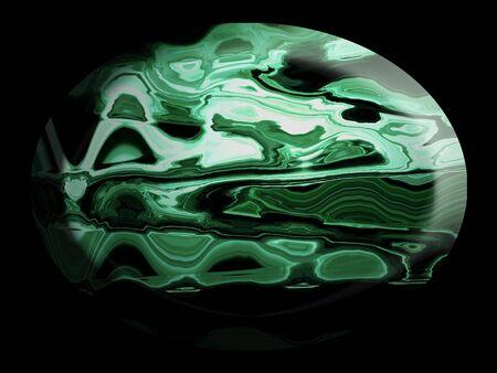 cabochon: Malachite jewelry semiprecious stone in an oval shape
