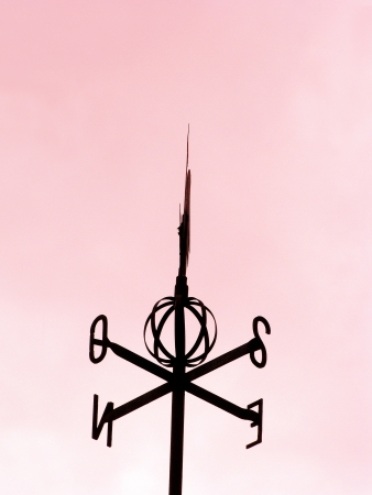 Valentines weathervane silhouette isolated over pink sky background Stock Photo - 17097548