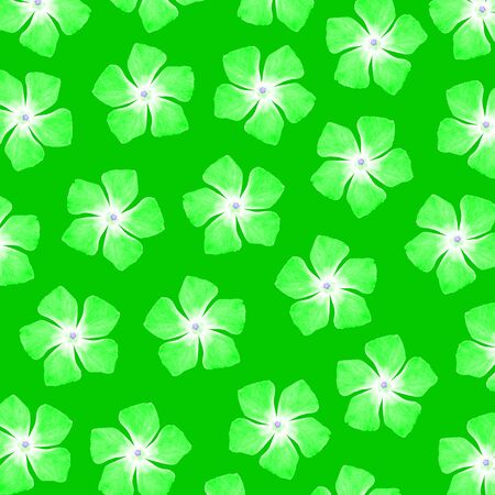 Bright vibrant green background with flowers pattern Stock Photo - 17116084