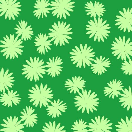 Light green flowers silhouettes over dark green Stock Photo - 17115770