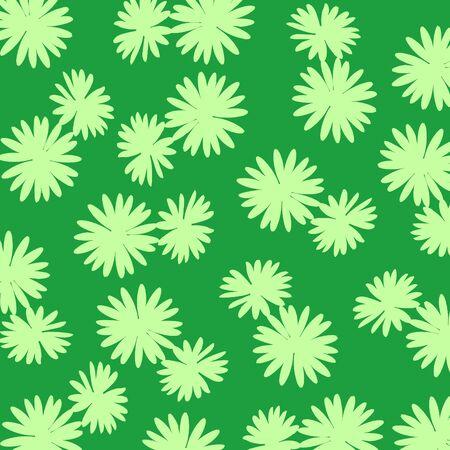 Light green flowers silhouettes over dark green Stock Photo - 17115770