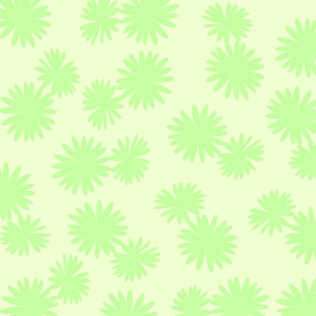 Palid greens background with flowers silhouettes Stock Photo - 17115679