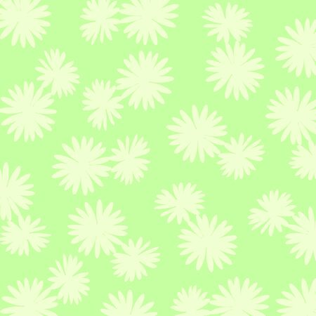 Light green background with flowers silhouettes Stock Photo - 17115707