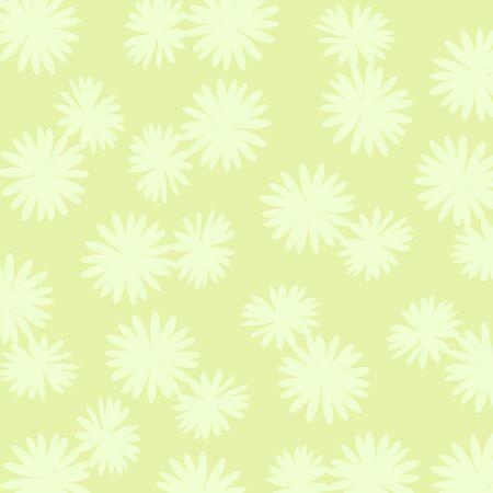 Light green flowers pattern Stock Photo - 17115636