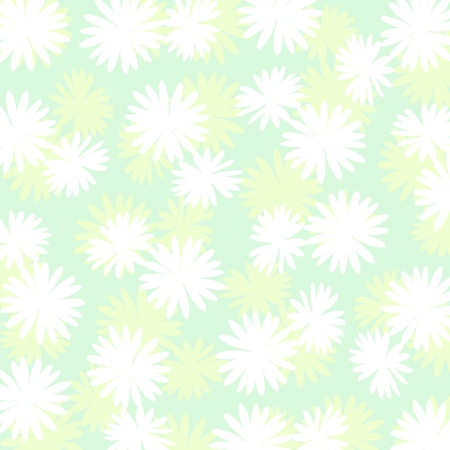 Pallid delicate background with flowers over green Stock Photo - 17115681