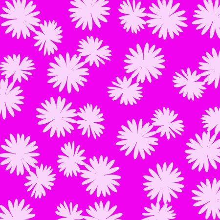 Pink flowers pattern over fuchsia background Stock Photo - 17116035