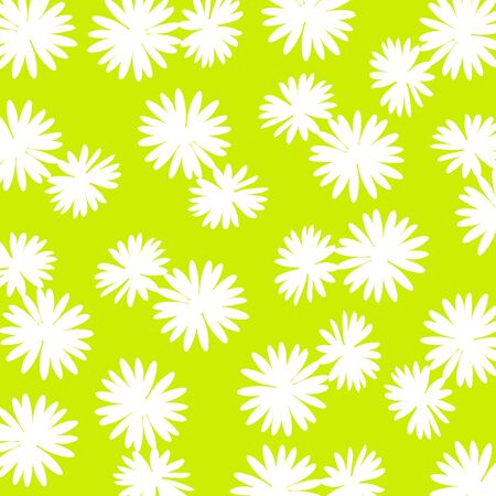 White flowers over yellowish vibrant green background Stock Photo - 17115692