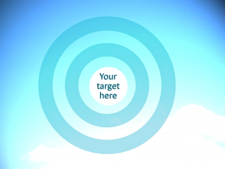 focalize: Focalize your target, conceptual image Stock Photo