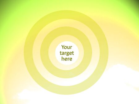 visualise: Yellow background with concentric circles to visualise your target