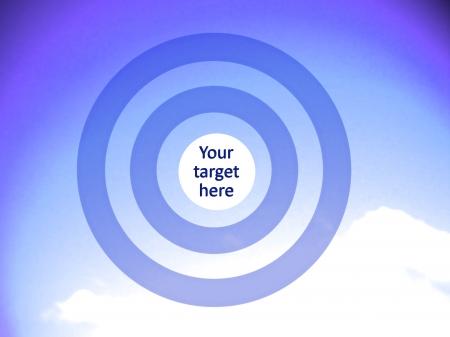 focalize: Indigo blue background for your target
