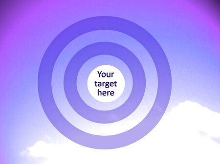 focalize: Purple concentric circles to visualice your target at the center