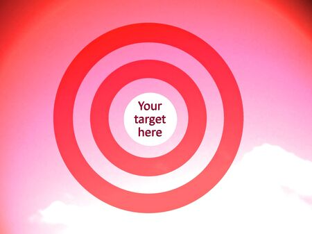 space for images: Red concentric circles to visualice your target at the center Stock Photo