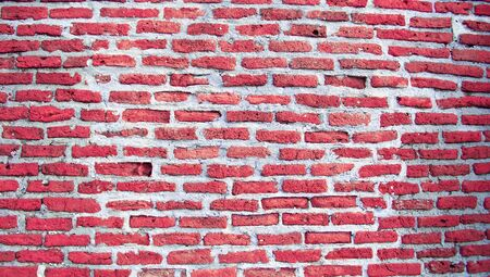 romaticism: Red brickwall for valentine s passion background