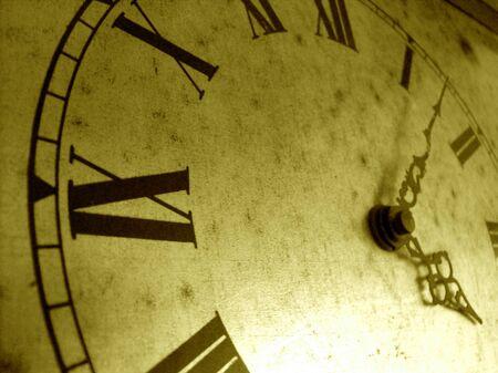 goldish: Old clock in goldish tone