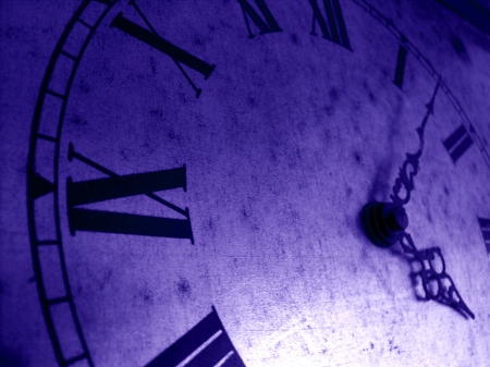 Blue time, freeze in time concept Stock Photo - 17224832