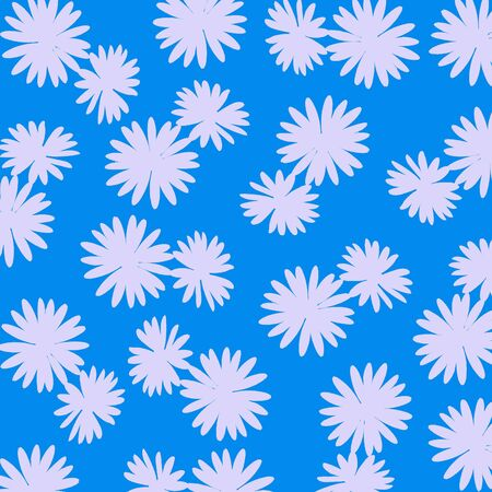 cian: Cian background with flowers pattern
