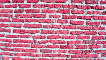 romaticism: Romantic old bricks wall in pink red and grey Stock Photo