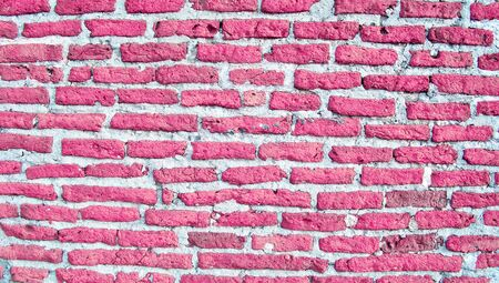 romaticism: Saint Valentines day background, brickwall in pink Stock Photo