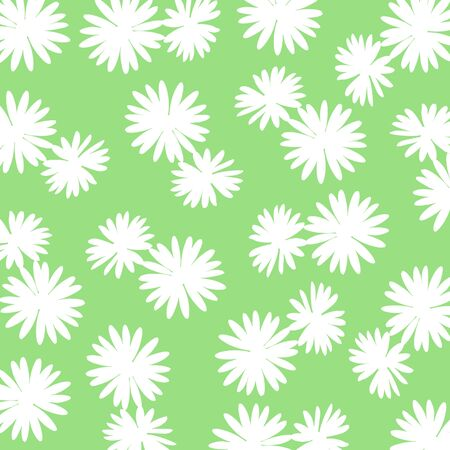 White flowery background over green Stock Photo - 17225600