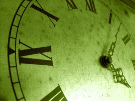 greenish: Greenish vintage roman clock background closeup