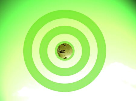 focalize: Green eco time conceptual image