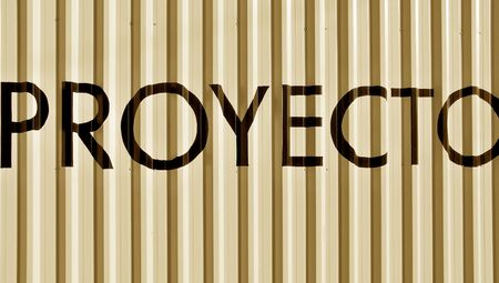 typographies: Proyecto, proyect, background, word Stock Photo