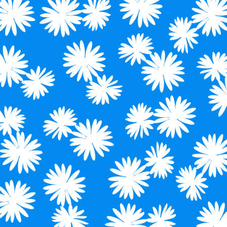 cian: Cian blue background with white flowers