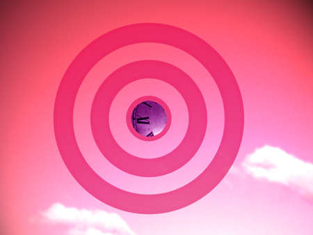 focalize: Pink romantic time target for valentine, conceptual image  Stock Photo