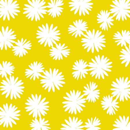 ochre: Yellow ochre background with white flowers
