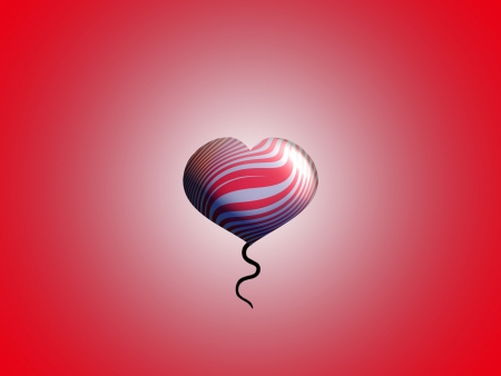 spermatozoid: Small red heart shaped balloon for valentines salutation Stock Photo