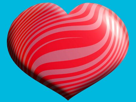 cian: Red and pink heart shaped balloon over turquoise background