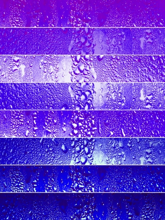 Purple backgrounds with raindrops or drops of beverage condensation photo