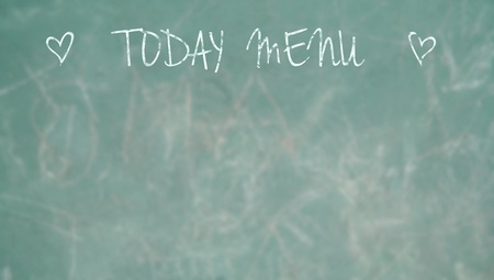 Menu chalkboard textured background photo