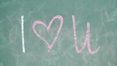 Romantic school class blackboard message photo