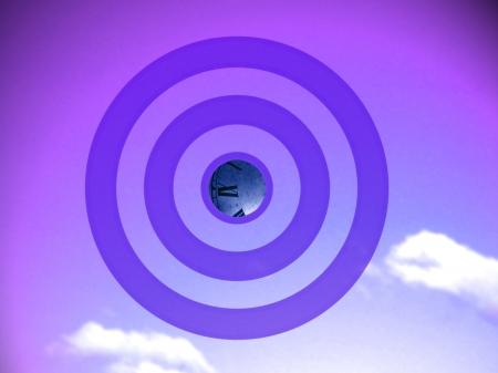 transmutation: Time transmutation target in violet background