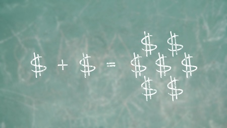 Learning economy in a school class, conceptual image photo