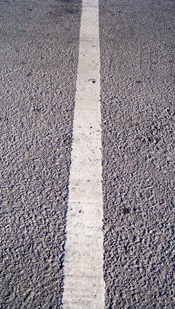 Thin white street line perspective on abstract urban background Stock Photo - 19058708