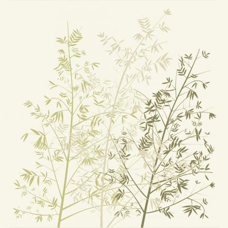 Three bamboo trees silhouettes photo