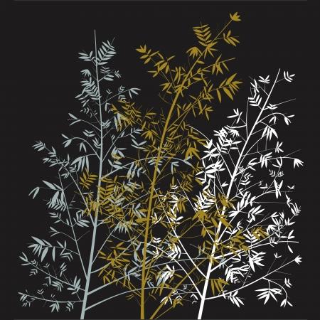 sobrio: �rboles sobrios como el fondo de la ilustraci�n de bamb� Foto de archivo