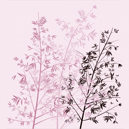 pinkish: Light pink bamboo trees illustration