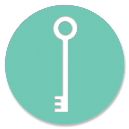 greenish: Password key icon in emerald green circle
