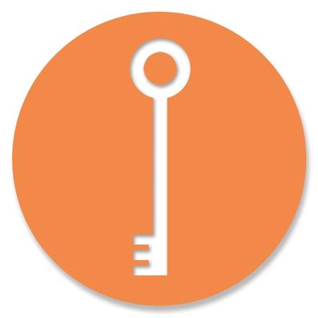 hole in one: Master key icon in orange circle over white