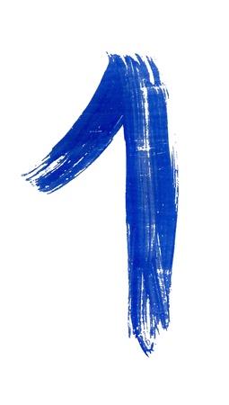 typographies: One, first, winner, premium, premier, begin, number, blue, brush