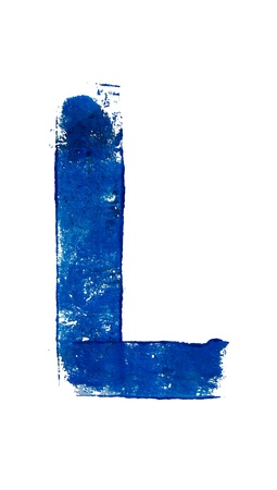 typographies: L character painting on white Stock Photo