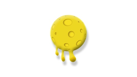 Melting cheese ball illustration isolated on white illustration
