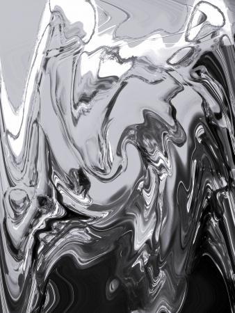 metallized: Silver metallized liquid painting background Stock Photo