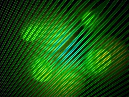 fibre optique: Feux verts lumineux sur des lignes de fibre optique fond Banque d'images