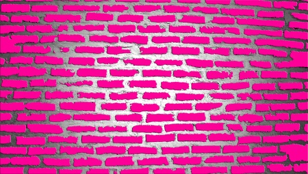 Brilliant pink brick wall illustration illustration