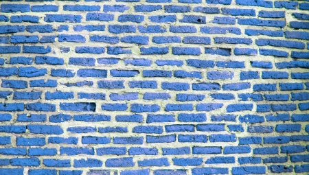 Blue brickwall photo texture background photo